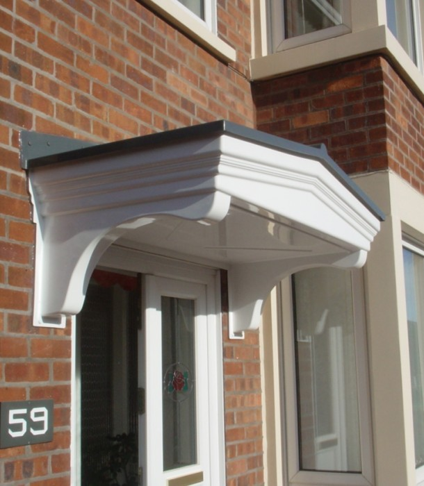 Door canopies from AWC & AWC Home Improvements | Roofline guttering fascias and soffits ...